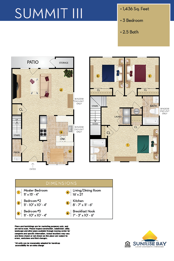 Sunrise Bay Apartment Floor Plan