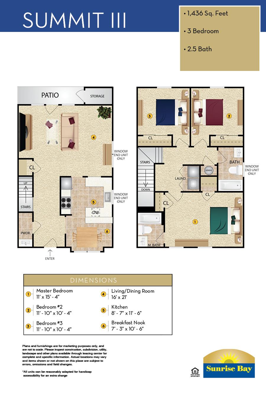 Sunrise Bay Apartment Floor Plan